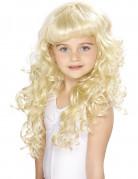 Parrucca bionda da principessa per bambine