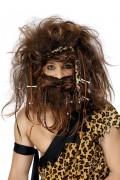 Parrucca con barba da uomo delle caverne