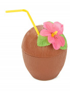 Noce di cocco Hawaii con fiore
