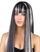 Parrucca bianca e nera da donna