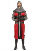 Costume rosso da cavaliere medievale da adulto