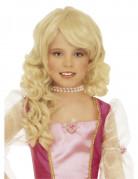 Parrucca da principessa bionda per bambina