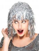 Parrucca da adulti brillante color argento