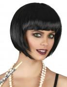 Parrucca corta nera da donna