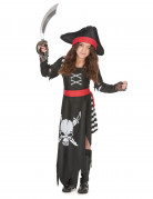 Costume piratessa con teschio per bambina