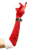 Paio di guanti lunghi da Mamma Natale per adulto