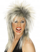 Parrucca rock bionda e nera da donna