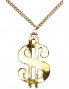 Collana dorata stemma del dollaro