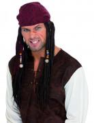 Parrucca da pirata con dreadlocks adulto