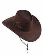 Cappello marrone da cowboy per adulto