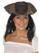 Cappello con parrucca da pirata