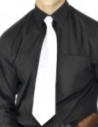 Cravatta da gangster di colore bianco