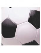16 tovaglioli a tema calcio neri e bianchi