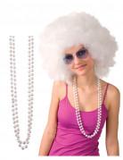Collana di perle bianche per adulto