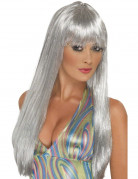 Parrucca lunga argento da donna