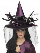 Cappello viola da strega Halloween