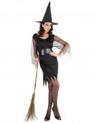 Costume strega corto per donna Halloween