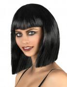 Parrucca nera caschetto asimmetrico
