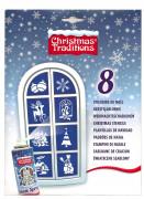 8 stencil natalizi con vari decori