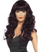 Parrucca da sirena riccia e violetta lunga da donna