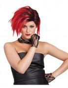Parrucca corta  rossa punk
