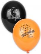 12 palloncini con scritta Halloween