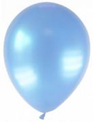 12 palloncini di colore azzurro metallizzato