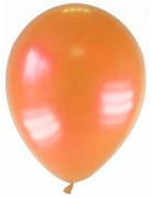 12 palloncini di colore arancione metallizzato