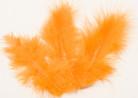 20 piume per decorazione arancio