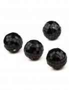 4 piccole sfere sfaccettate di colore nero