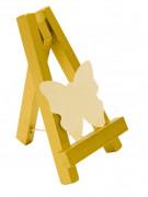 Segnaposto dorato a forma di cavalletto da pittore