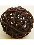 6 palline di vimini marrone