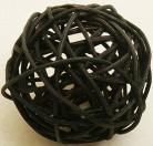 6 palle in vimini nere diametro di 3.5 cm