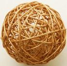2 palle in vimini oro diametro 6 cm