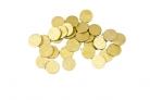 Coriandoli da tavola di forma rotonda color oro