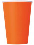 Bicchieri di carta arancioni in confezione da 10