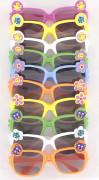 10 occhiali colorati con adesivi