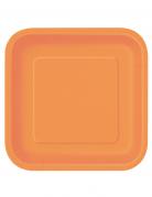 14 piatti arancioni quadrati