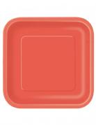 14 piatti rossi quadrati