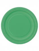 16 piatti cartone verdi
