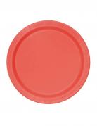 20 piatti piccoli di cartone rossi