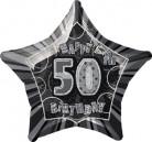 Palloncino grigio a forma di stella per i 50 anni