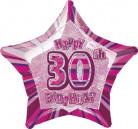 Palloncino rosa a forma di stella 30 anni