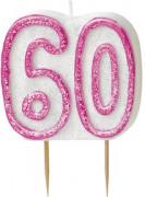 Candelina 60 anni rosa