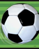 8 sacchetti verdi a tema calcio