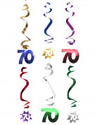 6 decorazioni a spirale per il 70? compleanno