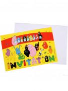 6 biglietti invito party Barbapapa™