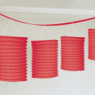 Ghirlanda di 8 lanterne rosse