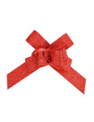 10 Fiocchi paillettati rossi