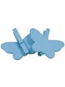 Confezione 6 mollette con farfalla turchese in legno